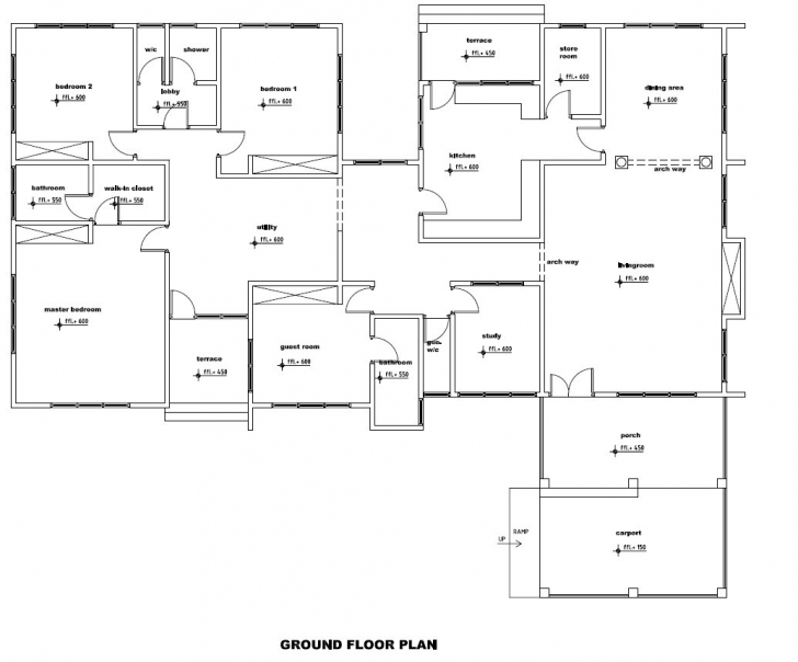 Splendid House Plan Ground Floor Best Of Baby Nursery Ground Floor Plans 3 Bedroom House Floor Plans In Ghana Picture