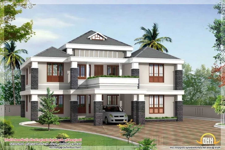 Splendid Incredible Kerala House Blue Exterior Color Combination Including Kerala Exterior Home Painting Photo