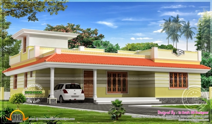Splendid Kerala Model Single Floor Home Plan Flat Pictures Assam Style 4 Kerala Style Single Floor Home Model Photos Pic