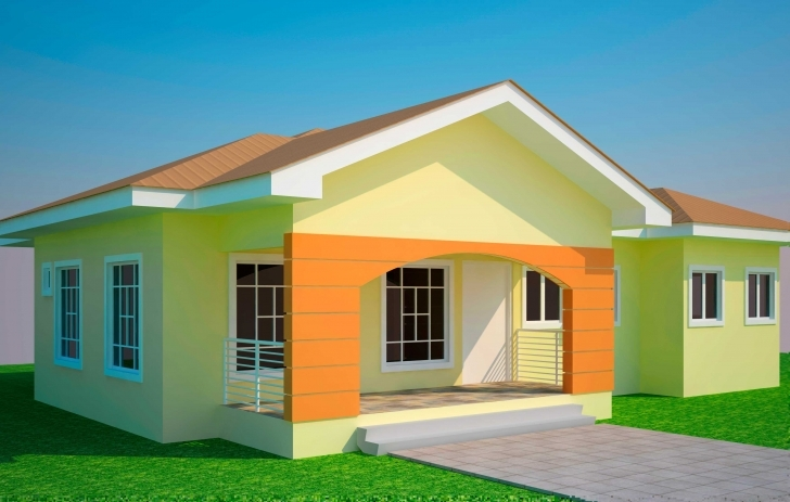 Splendid Simple Bedroom House Plans Ideas With Fabulous 3 Houses And Their Simple Ghana Houses With Plans Pic