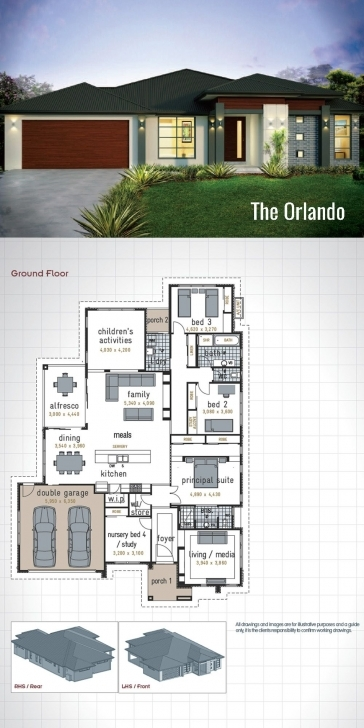 Splendid Single Storey House Design - The Orlando. A Generous Size Of 278 Sq Double Garage House Plan Pic