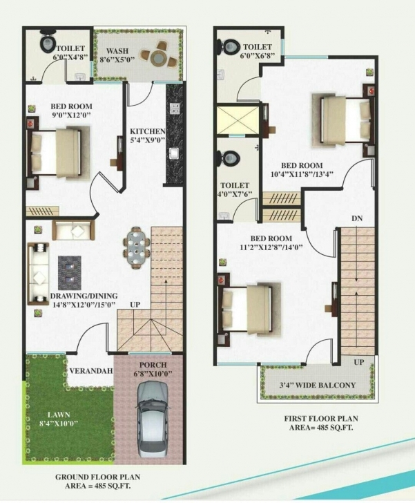 Stunning 15 X 40 | Working Plans | Pinterest | Architectural House Plans 15*50 Duplex House Plan Image