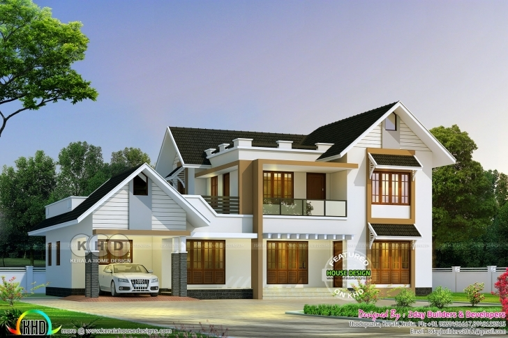 Stunning 2765 Square Feet 5 Bedroom Semi Contemporary Home | Kerala Home Kerala Home Design Pic