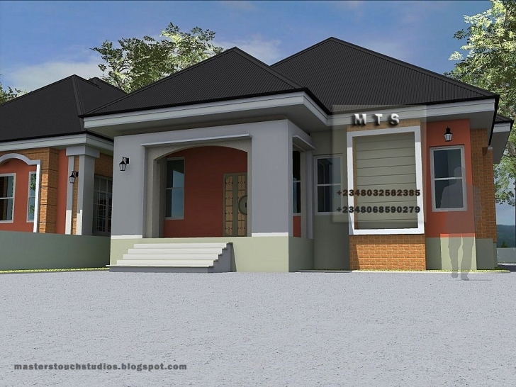 Stunning 3 Bedroom Bungalow House Designs In Nigeria - Bedroom Design Ideas 3 Bedroom House Plans With Photos In Nigeria Picture