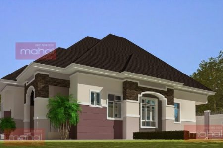 Nigerian Architectural 3Bedroom Floor Plan