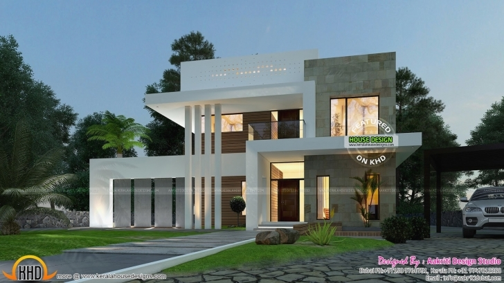 Stunning 3 Bedroom Modern House New September 2015 Kerala Home Design And 3Bedroom Modern House Picture