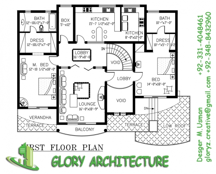 Stunning 30 X 60 House Plan Map, Ranch House Plans 30X60 - White House House Map Design 15 X 60 Image