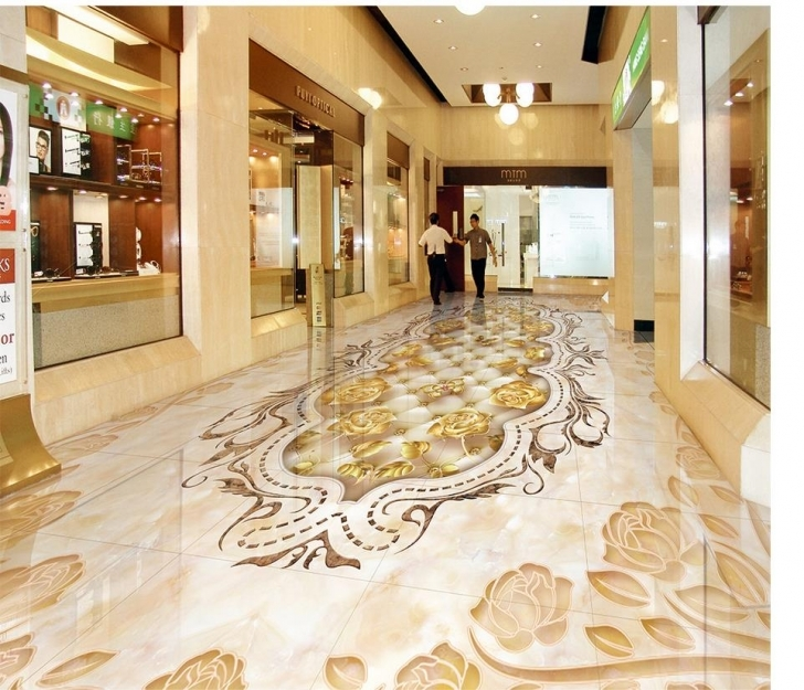 Stunning 3D Flooring Marble Texture Flower Tile 3D Floor Bathroom Waterproof Floor Marble With 3D Picture