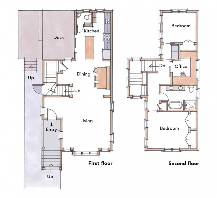 Stunning 5 Small Home Plans To Admire - Fine Homebuilding Simple House Plan With 2 Bedrooms In 800Sft Photo