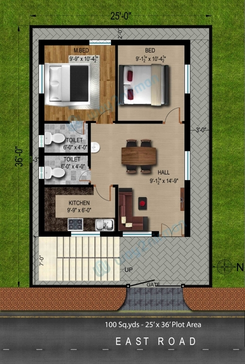 Stunning 88+ Home Design 100 Sq Yard - 150 Square Yards House Plan In India 100 Square Yard House Image
