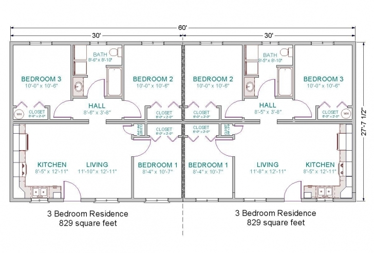 Stunning Basic For Duplex Guest House, 6 Bedrooms Total.· Duplex-28X60-3 28 X 60 House Plans Photo