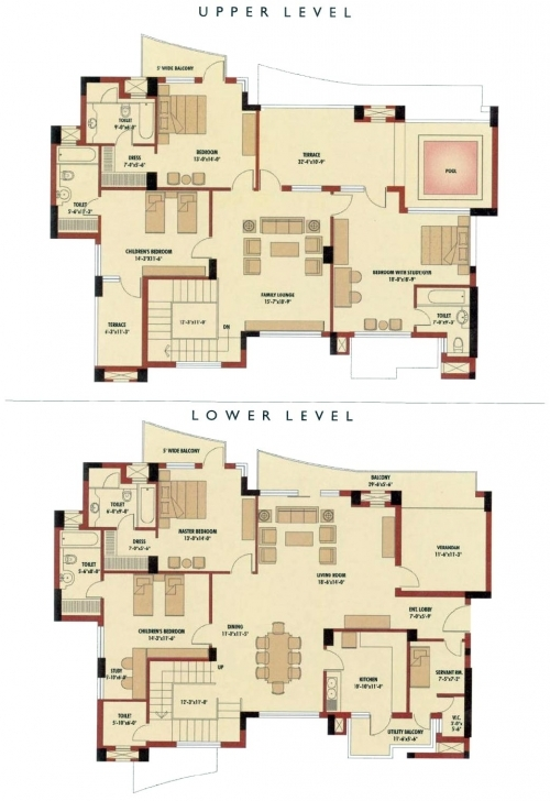 Stunning Design : House Plan 4 Bedroom Duplex House Plans India Duplex Floor Plans In Nigeria Picture