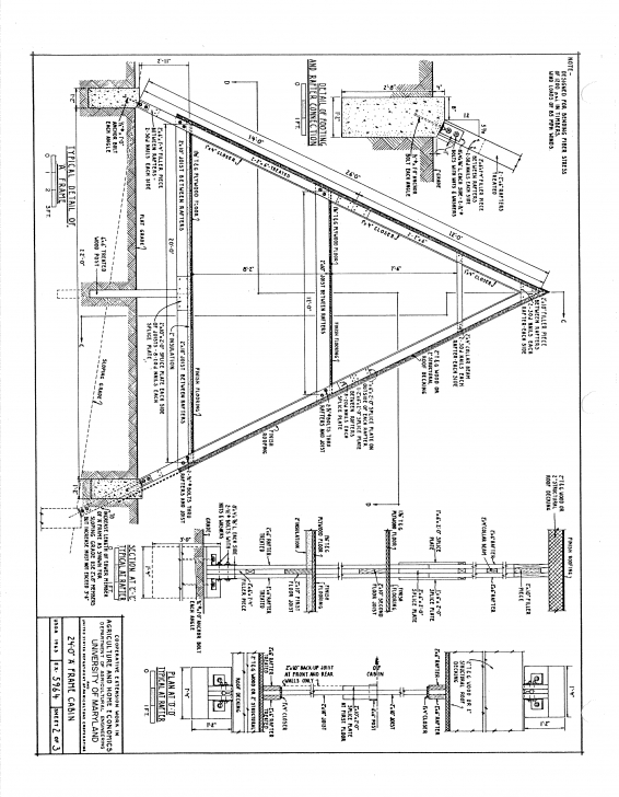 Stunning Free A-Frame Cabin Plans Blueprints Construction Documents | Sds Plans A Frame House Plans Free Pic
