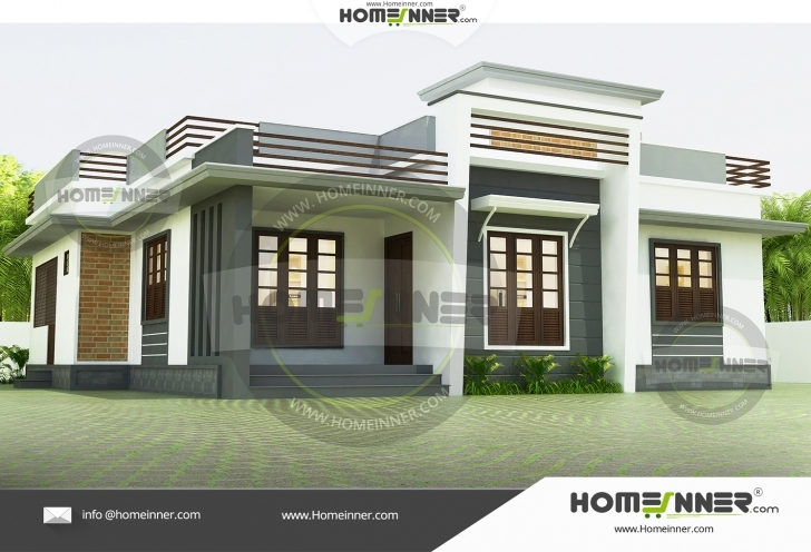 Stunning Hind-9011 Low Budget Modern 3 Bedroom House Design In Kerala Image