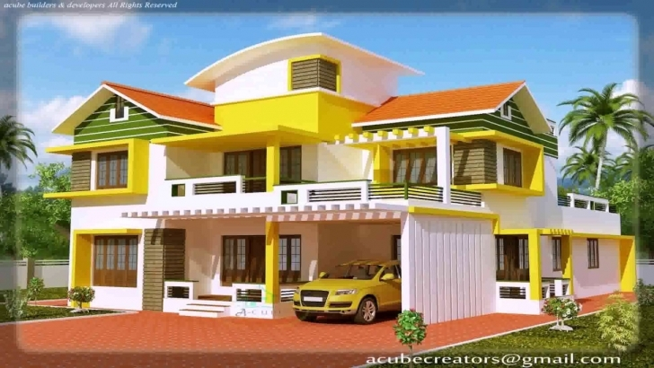 Stunning House Front View Model Design Pictures - Youtube Home Front Design Model Image