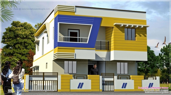 Stunning Inspirational Home Building Design In India | Homeideas Home Front Design Photo In India Pic