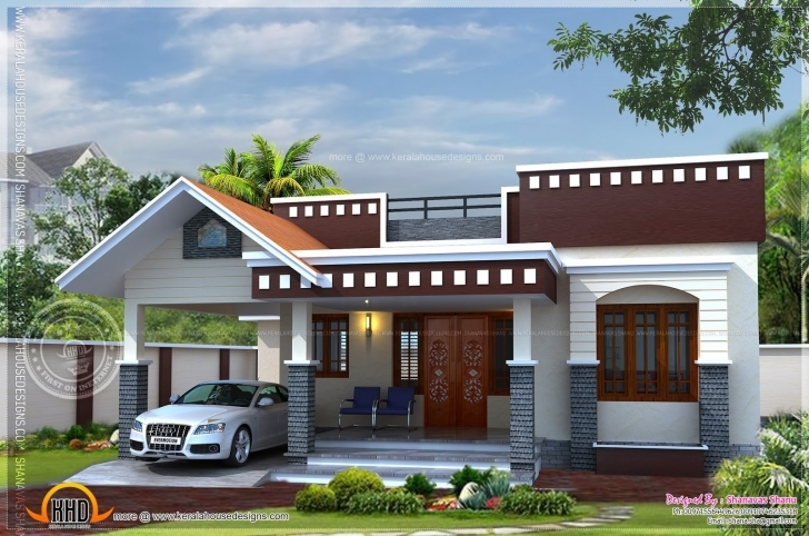Stunning Lovely Single Floor Home Front Design Indian Style | Homeideas Single Floor Home Front Design In Kerala Pic