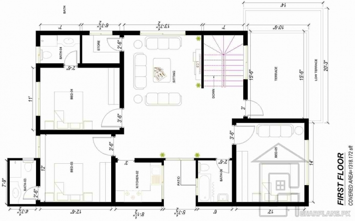 Stunning Pakistani House Designs (10 Marla) First Floor | Ddddd | Pinterest 15 Marla Only House Design In Pakistan Picture