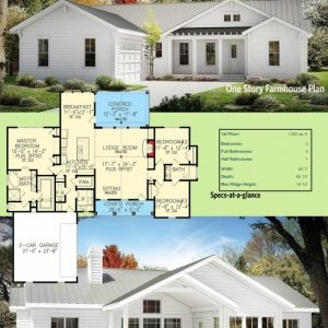 Modern Farmhouse Floor Plans One Story