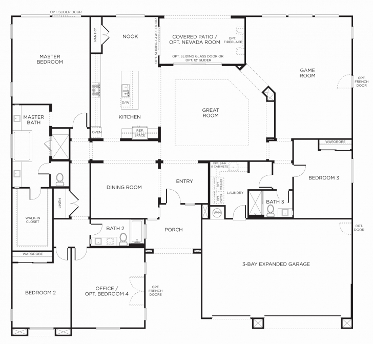 Stunning Single Story 4 Bedroom House Plans Unique Kit Home Floor Plans Single Story House Floor Plans Australia Photo