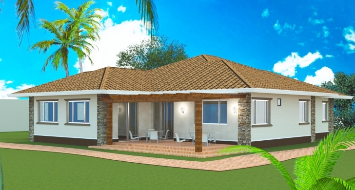 Stunning Three Bedroom Bungalow Design - Homes Floor Plans Bongalo House Plan Nairaland Image