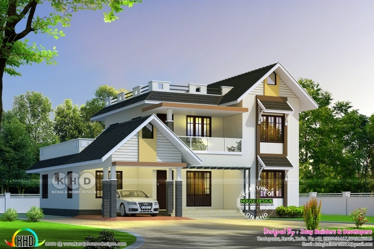 Top 2650 Square Feet, Nice Sloping Roof Mix Home | Kerala Home Design Kerala Home Design Images Image