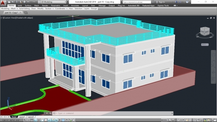 Top 3D House Model Part-9 Autocad Basic 2D & 3D Bangla Tutorials Plan Autocad 2D Plan To 3D Pic