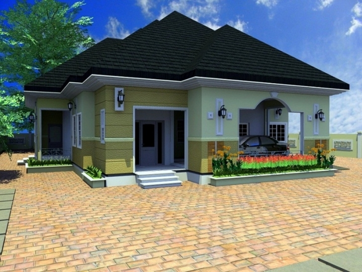 Top 4 Room Cottage Plans Unique 3D Bungalow House Plans 4 Bedroom 4 Four Bedroom Bungalow House Photo