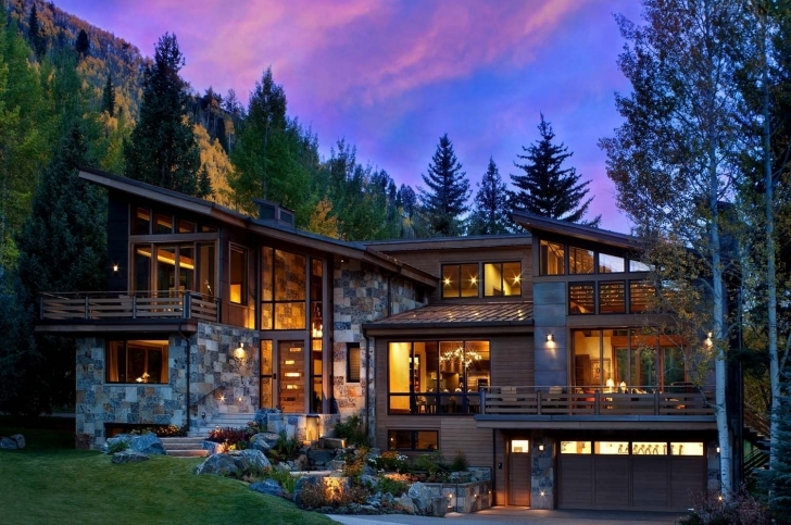 Top Captivating Modern-Rustic Home In The Colorado Mountains | Colorado Contemporary Rustic Mountain Home Plans Photo