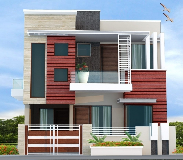 Top Chitramukta 3D Exterior Front Elevation Photos, Cantt, Ambala 3D Front Elevation Of House In Punjab Picture
