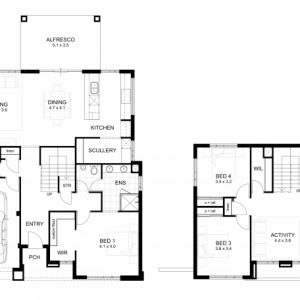 Dsouble Storey House Plans