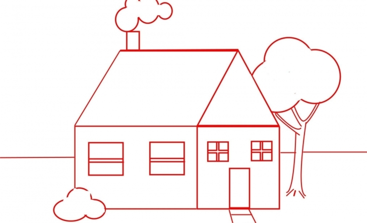 Top Draw A House For Kids And Beginners - One - Youtube How To Draw Home For Kids Photo