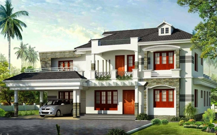 Top Exterior-Design-Kerala-Home-Design-Wallpaper-Pictures-Hd | Elevation Kerala Full Hd House Photo Photo