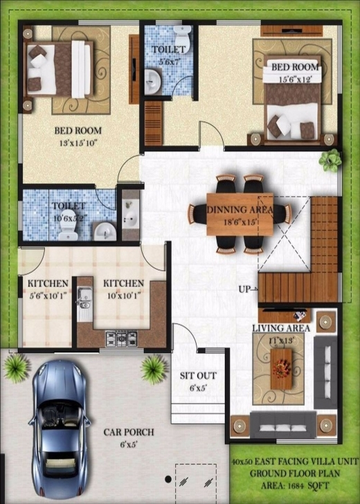 Top Fashionable 20 X 40 House Plans East Facing 7 50 Floor 40X Planskill 20*50 House Plan South Facing Pic