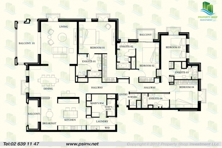 Top Floor Plan Of 4 Bedroom Apartment In St Regis Saadiyat Not Until Four Bedroom Flat Floor Plan Image