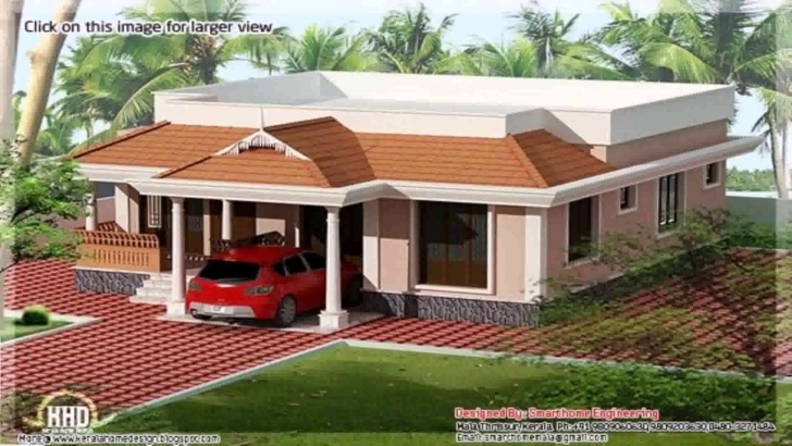 Top Kerala Style 3 Bedroom House Plans Single Floor - Youtube Kerala 3 Room House Pic