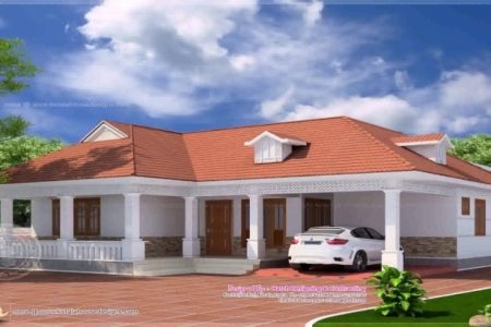 Kerala Style Single Floor Home Model Photos