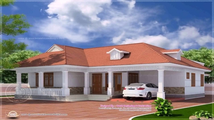 Top Kerala Style 4 Bedroom House Plans Single Floor - Youtube Kerala Style Single Floor Home Model Photos Image