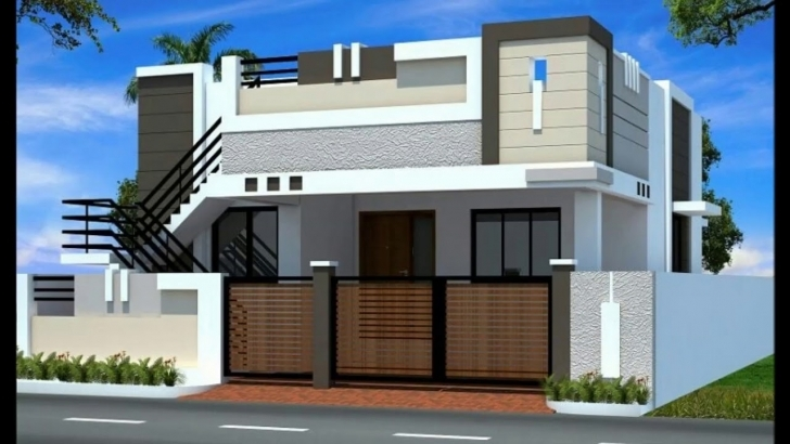 Top Photo of 3D House Elevations - Youtube 3D Home Front Elevation Images Pic