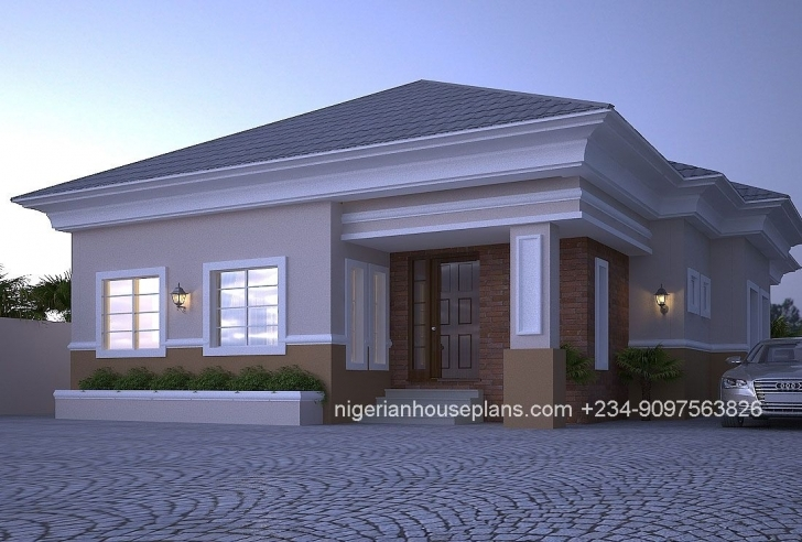 Top Photo of 4 Bedroom Bungalow (Ref: 4012 | Bungalow, Bedrooms And House Latest Building Plan In Nigeria Photo