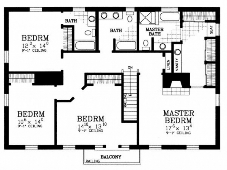 Top Photo of Classic Image Of House Plan 4 Bedroom House Floor Plans Home Design Free Simple 4 Bedroom House Plans Pic