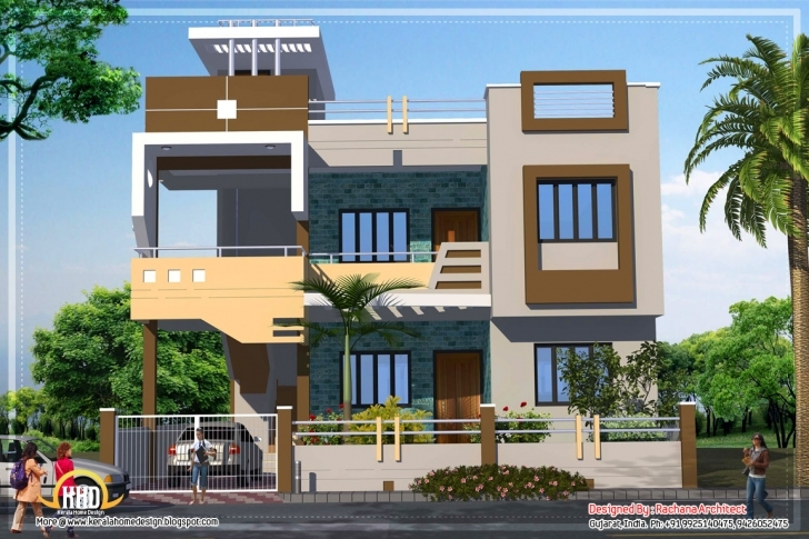 Top Photo of Contemporary House Plan Sqft Kerala Home Collection Also Design Indian House Plan Photo Gallery Picture