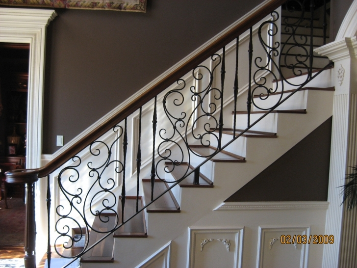 Top Photo of Fabulous Wrought Iron Stair Railings Interior - Founder Stair Design Siri Iron Railing Photo