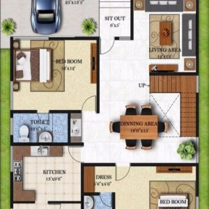 House Map Design 25*50 West Facing