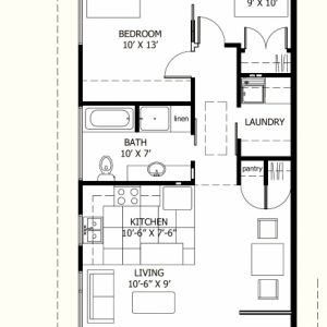 800 Square Feet House Design