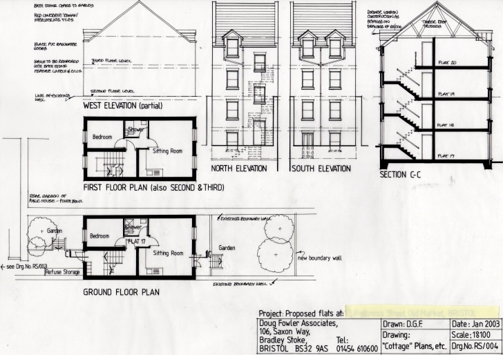 Top Photo of Inspiring Plan Section Elevation Drawings Pictures - Exterior Ideas Plan Elevation And Section Drawings Image