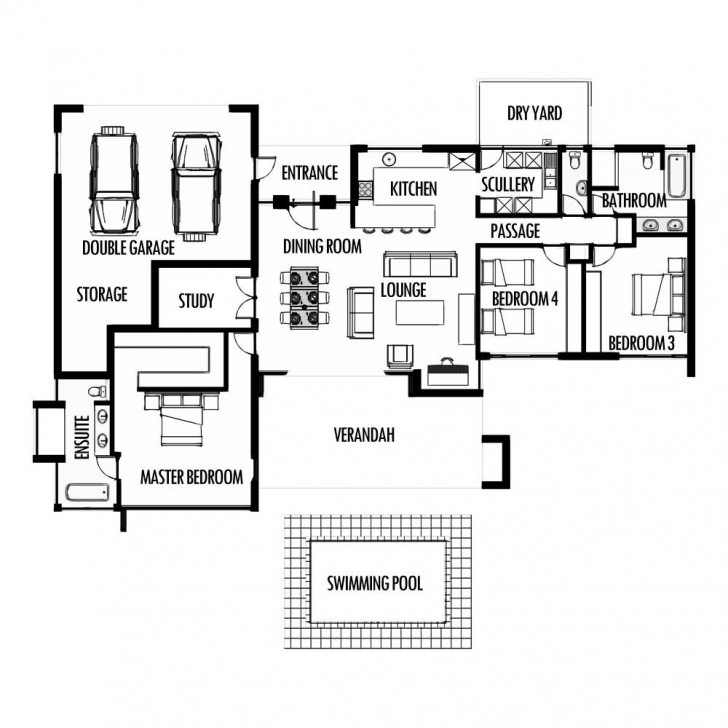 Top Photo of Modern House Plans Rsa Luxury 3 Bedroom House Floor Plans South House Plans South Africa 4 Bedroomed Pic