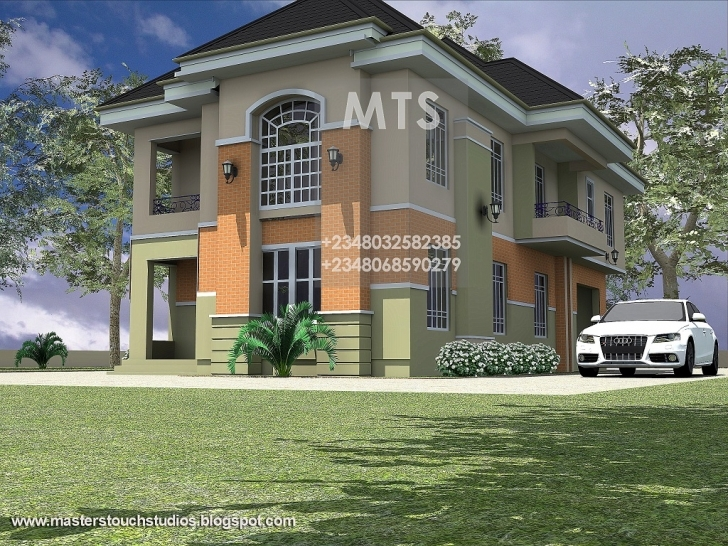 Top Photo of Mrs Ifeoma 4 Bedroom Duplex Modern Duplex Plans In Nigeria Image