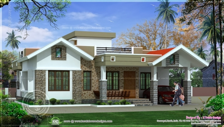 Top Photo of One Floor Kerala Style Home Design - Building Plans Online | #39807 Single Floor House Front Design Kerala Style Pic