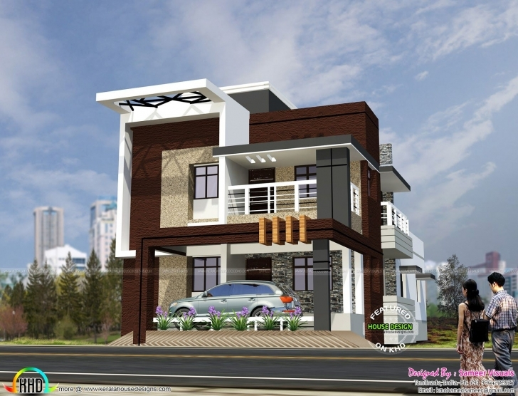 Top Photo of South Indian Style Contemporary House | Indian Style, Contemporary South Indian House Front Elevation Designs Image